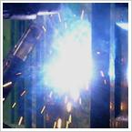 半田付け銀ロウ付けアルミ・真鍮・鉄等のガス溶接、アルミ・鉄・真鍮・ステンレス等のアルゴン溶接、鉄のアーク溶接に対応しています。
